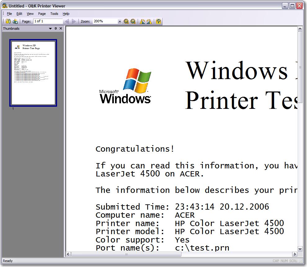 printer viewer view pcl postscript nt emf spool print jobs