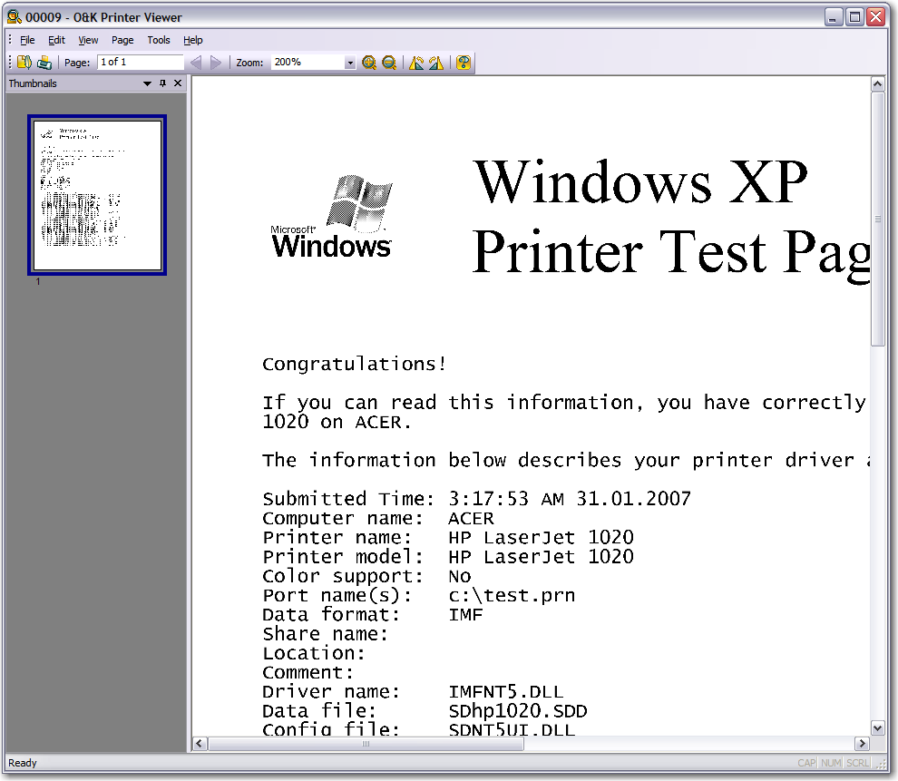 Printer viewer  View PCL, Postscript, NT EMF Spool print